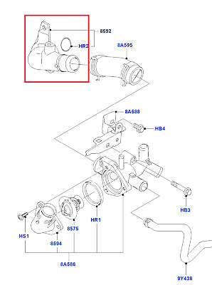 Genuine Ford Thermostat Water Outlet Connection 2078986