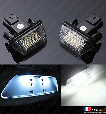 2X Ampoules Led Blanc Plaque D'immatriculation Peugeot 5008 Partner Beeper Tepee