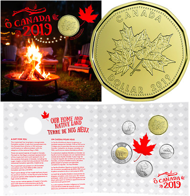 2019 O-Canada Gift 5-Coins Set: $2, $1, 25cent, 10cent, 5cent