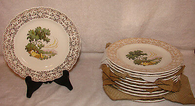 """American Limoges Chateau France Breakfast Salad Plates 7"""" Mint NOS Dinnerware"""