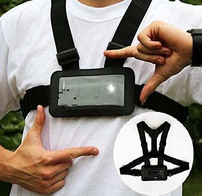 Use Your Mobile Phone as Action Camera Body Chest Mount Harness Strap Mobile ...