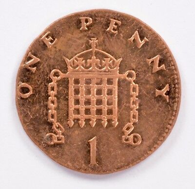Great Britain 1998 1 Penny Struck on 2.4 Gram Copper Planchet UNC Red
