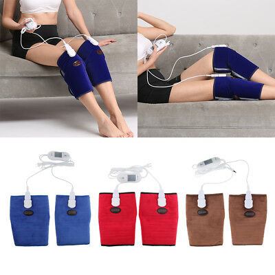 Electric Knee Heating Pad Heated Brace Arthritis Joint Wrap Warmer Therapy