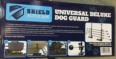 Universal Deluxe Tubular Dog-Pet Guard Barrier Back Seat Fitting