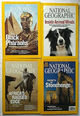 4 x National Geographic Magazines February, March, April & June 2008