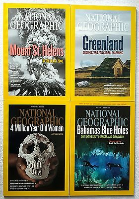 4 x National Geographic Magazines May, June, July & August 2010