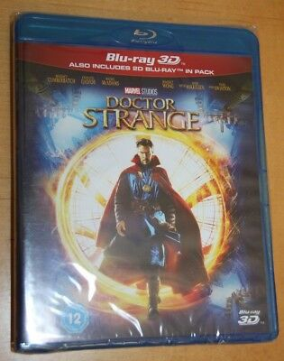 Marvel's Doctor Strange 3D + 2D Blu-Ray BRAND NEW/Sealed, UK Edition