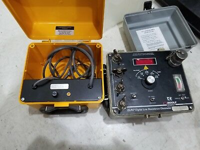 BIDDLE 247000 DLRO DIGITAL LOW RESISTANCE OHMMETER. No charger.