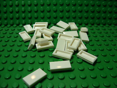 ** 25 CT LOT **  Lego NEW white 1 x 2 modified tile grill pieces   Lot of 25