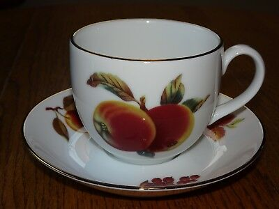 Royal Worcester Evesham Gold Tea Cup and Saucer