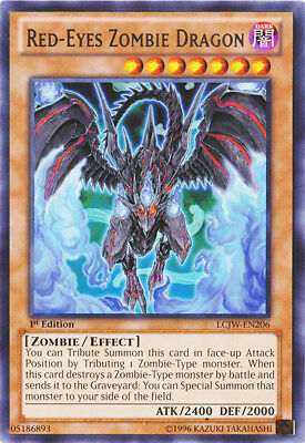 YuGiOh Red-Eyes Zombie Dragon - LCJW-EN206 - Rare - 1st Edition Near Mint