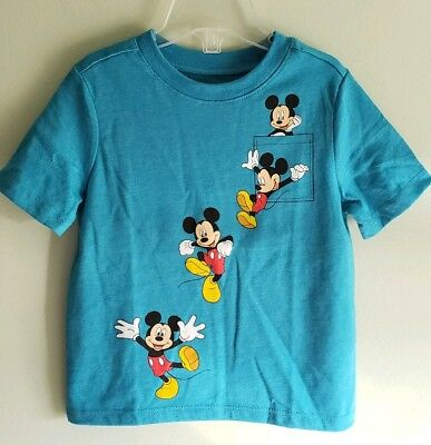NEW Old Navy Boys 12-18 MONTH 2T 3T Short Sleeve Mickey Mouse Disney Tee T-Shirt