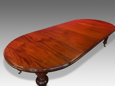 Grand William Iv Style Mahogany Table Professionally French Polished
