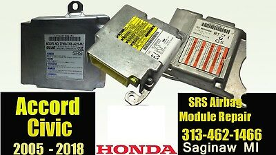 Honda Accord, Civic,odyssey Srs Airbag Rcm Module Reset,crash Data Clean Service