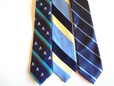 Boy's Full Length Neckties (3) For Ages 8 - 14 Years  - Apx. Length 48 Inches