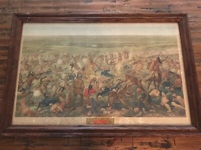 "1950's Budweiser ""Custer's Last Fight"""" Framed Advertising"