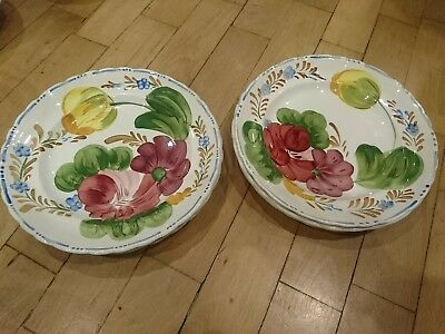 "Belle Fiore Simpsons Dinner Plates 9"" 23cm Hand Painted"