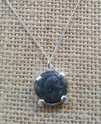 Authentic Ancient Coin of Cleopatra Egypt Queen 925 Sterling Silver Necklace