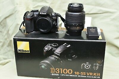 Nikon D D3100 14.2MP Digital SLR Camera - Black (Kit w/ AF-S DX 18-55mm)