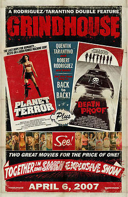 GRINDHOUSE orig DS movie poster '07 OS Planet Terror Death Proof GRIND HOUSE
