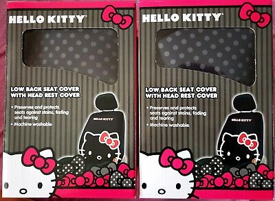 80e252167c Hello Kitty by Sanrio 2pc Set Front Seat Low Back Seat Cover w Head Rest
