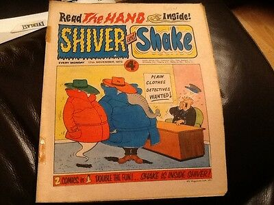 SHIVER AND SHAKE  Paper comic 1973 ISSUE NUMBER 37 Still in good condition