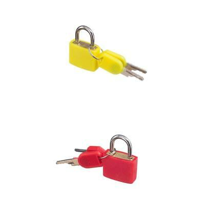 Sets of 2 Small Padlocks with Two Keys Bag Security Lock for Luggage Case
