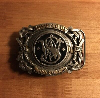 Smith & Wesson Emblem, Vintage Belt Buckle, 1995 Enamel
