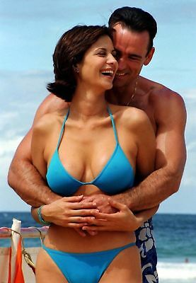 0ebdcaaad8b39 Catherine Bell Smiling With Blue Bikini 8x10 Glossy Photo Print