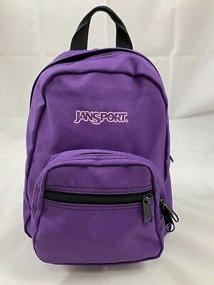JANSPORT Small Mini Half Pint Purple Backpack Book Travel School Bag 2  Pockets a600c69dcfc1e