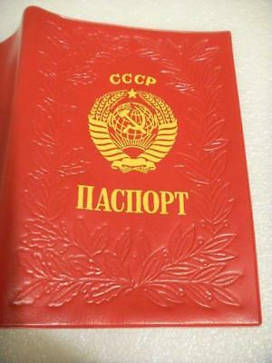 Soviet Russian USSR Passport Cover Holder with Coat of  Arms