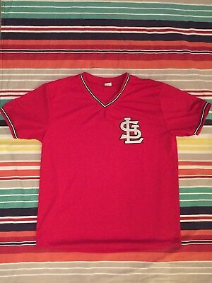 competitive price f7322 2cdaa St. Louis Cardinals MLB Adult XL Red Mesh Batting Practice Jersey