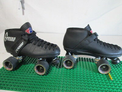Riedell Carrera Speed Skates Mens Size 10 Model 105b Black 95A Hyper Sure Grip