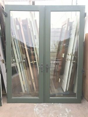 "Vintage french doors (pair) 35 3/4""x93"" with original glass and hardware Pick Up"