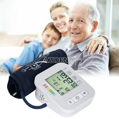 Digital Automatic Monitor Cuff Pulse Meter Wrist Blood Pressure Heart Beat Rate