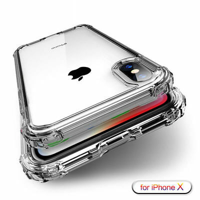 For iPhone XS Max XR X 8 7 6 5S Plus Shockproof Transparent Silicone Cases Cover