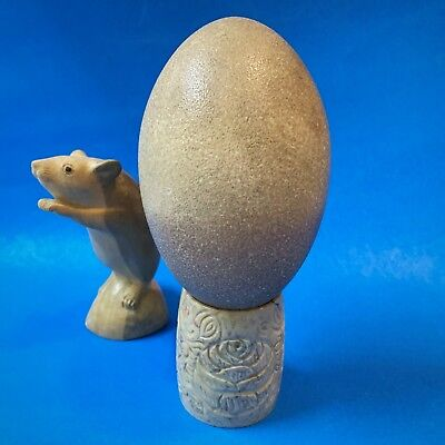 Vintage Emu Egg & Stand - Hollowed, Perfect Condition, For Craft / Art / Display