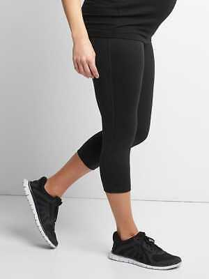 Gap Maternity GapFit Blackout Full Panel Capris in Black ~ NWT ~ Size Medium M