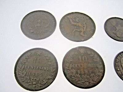 * Lot Of 8 Foreign Coins From The 1800's