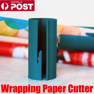 Sliding Wrapping Paper Cutter Christmas Craft Seconds Wrap Paper Cut Tools VW