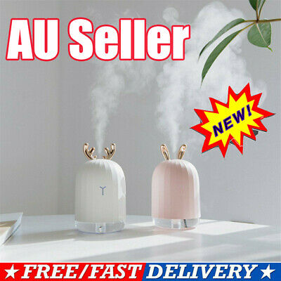 USB Ultrasonic Air Humidifier Essential Oil Aroma Diffuser Aromatherapy 7 LED VW