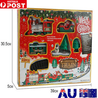 Christmas Electric LED Musical Train&Track Set Toys Kids Party Gift Home DecorVW