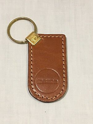 Vintage Brown Genuine Leather MAZDA Keychain Key Chain - New/Old Stock