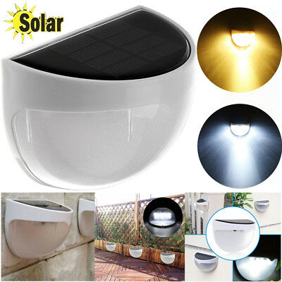 Home Garden 6LED Wall Light Solar Powered Security Outside Waterproof Patio Lamp