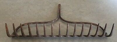 Rustic Metal Rake Head 15 Tines - Antique Vintage Farm Decor Rustic Wine Glasses