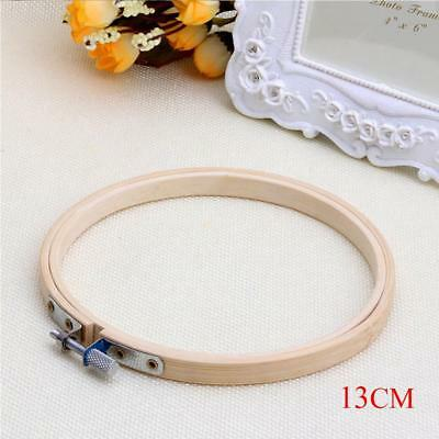 """Bamboo Wooden Embroidery Cross Stitch Machine Hoop Ring 5"""" Inch Needlecraft NG"""