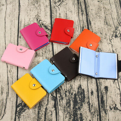 24 Cards Pu Leather Credit ID Business Card Holder Pocket Wallet Purse Package