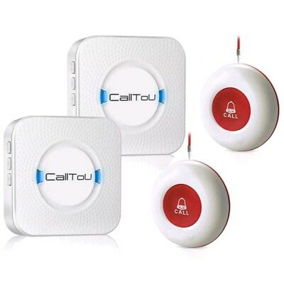CallToU Wireless Caregiver Pager Smart Call System 2 SOS Call Buttons