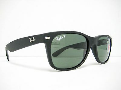 e2ceee7a21e new Ray Ban Wayfarer Sunglasses RB2132 622 58 Rubber Black Green Polarized  55mm