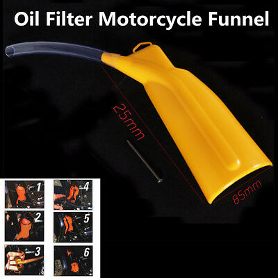 Motorcycle Orange Drip-Free Oil Filter Funnel For Harley Sportster Softail Dyna